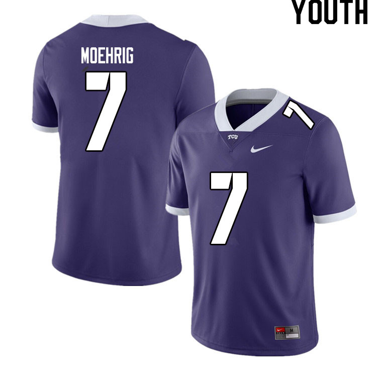 Youth #7 Trevon Moehrig TCU Horned Frogs College Football Jerseys Sale-Purple