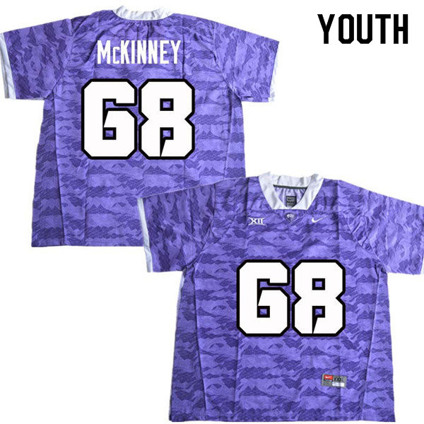Youth #68 Anthony McKinney TCU Horned Frogs College Football Jerseys Sale-Purple